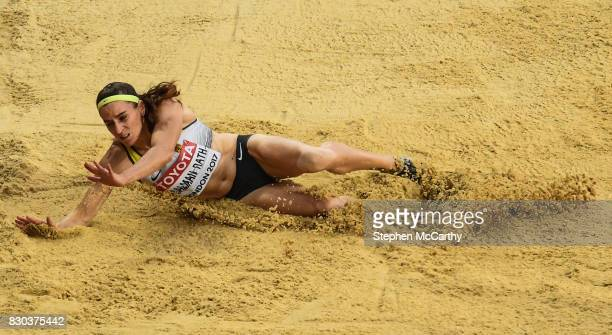 London United Kingdom 11 August 2017 Claudia SalmanRath of Germany competes in the final of the Women's Long Jump event during day eight of the 16th...