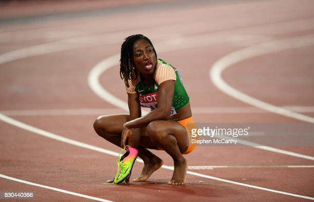 London United Kingdom 11 August 2017 MarieJosée Ta Lou of the Ivory Coast following the final of the Women's 200m event during day eight of the 16th...
