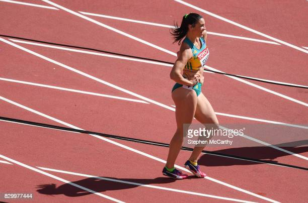 London United Kingdom 11 August 2017 Michelle Jenneke of Australia prior to her heat of the Women's 100m Hurdles event during day eight of the 16th...