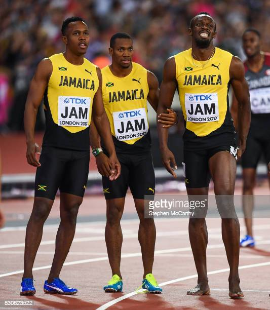 London United Kingdom 12 August 2017 Usain Bolt of Jamaica following the final of the Men's 4x100m Relay event during day nine of the 16th IAAF World...