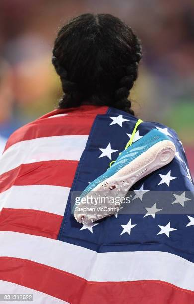 London United Kingdom 13 August 2017 Ajee Wilson of the USA after finishing third in the final of the Women's 800m event during day ten of the 16th...