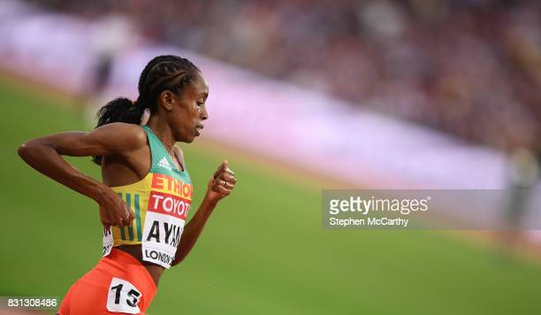 London United Kingdom 13 August 2017 Almaz Ayana of Ethiopia competes in the final of the Women's 5000m event during day ten of the 16th IAAF World...