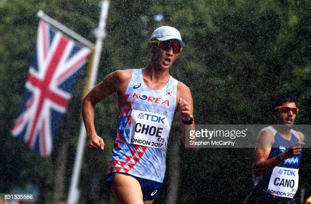 London United Kingdom 13 August 2017 Byeongkwang Choe of South Korea competes in the Men's 20km Race Walk final during day ten of the 16th IAAF World...