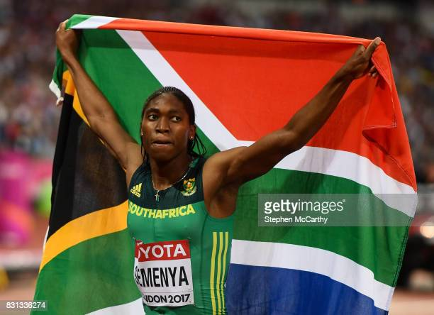 London United Kingdom 13 August 2017 Caster Semenya of South Africa after winning the final of the Women's 800m event during day ten of the 16th IAAF...