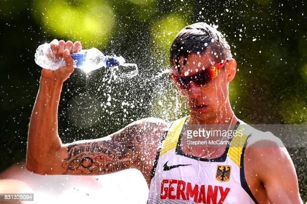 London United Kingdom 13 August 2017 Christopher Linke of Germany competes in the Men's 20km Race Walk final during day ten of the 16th IAAF World...