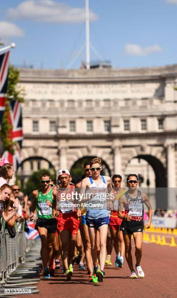 London United Kingdom 13 August 2017 Tom Bosworth of Great Britain competes in the Men's 20km Race Walk final during day ten of the 16th IAAF World...