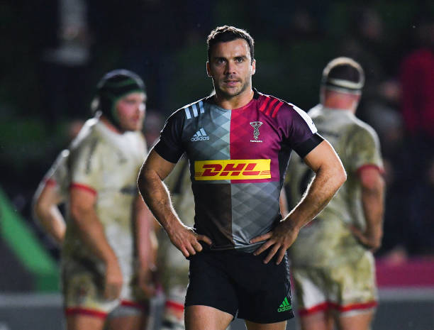 London , United Kingdom - 13 December 2019; Martin Landajo of Harlequins after his side conceded a try during the Heineken Champions Cup Pool 3 Round 4 match between Harlequins and Ulster at Twickenham Stoop in London, England. (Photo By Seb Daly/Sportsfile via Getty Images)
