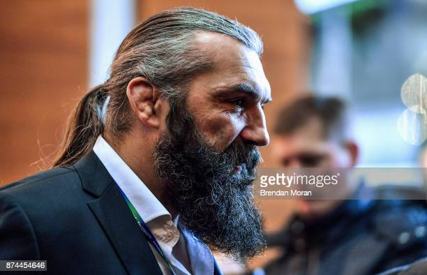 London United Kingdom 15 November 2017 France 2023 Leader and Bid Ambassador Sebastien Chabal prior to the Rugby World Cup 2023 host union...