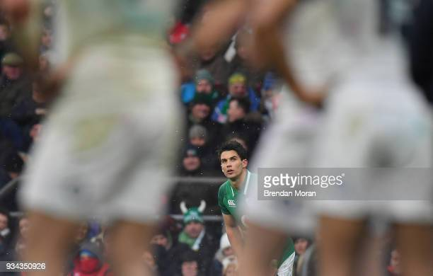London United Kingdom 17 March 2018 Joey Carbery of Ireland during the NatWest Six Nations Rugby Championship match between England and Ireland at...
