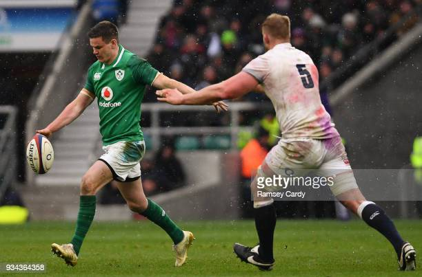 London United Kingdom 17 March 2018 Jonathan Sexton of Ireland during the NatWest Six Nations Rugby Championship match between England and Ireland at...