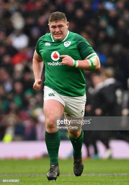London United Kingdom 17 March 2018 Tadhg Furlong of Ireland during the NatWest Six Nations Rugby Championship match between England and Ireland at...