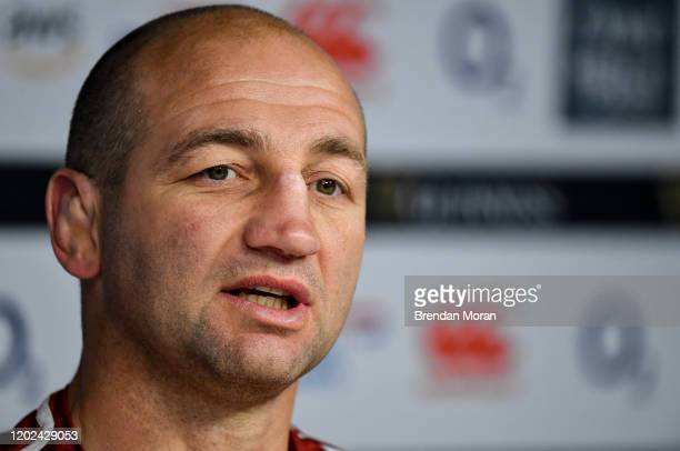London United Kingdom 22 February 2020 Skills coach Steve Borthwick during a press conference after the England Rugby Captain's Run at Twickenham...