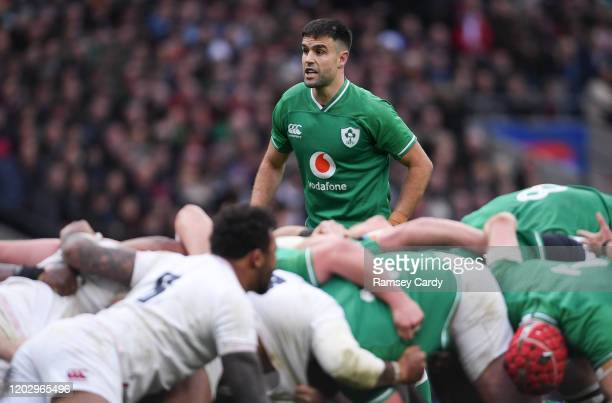 London , United Kingdom - 23 February 2020; Conor Murray of Ireland during the Guinness Six Nations Rugby Championship match between England and...
