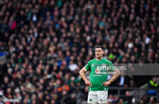 London , United Kingdom - 23 February 2020; Jonathan Sexton of Ireland during the Guinness Six Nations Rugby Championship match between England and...