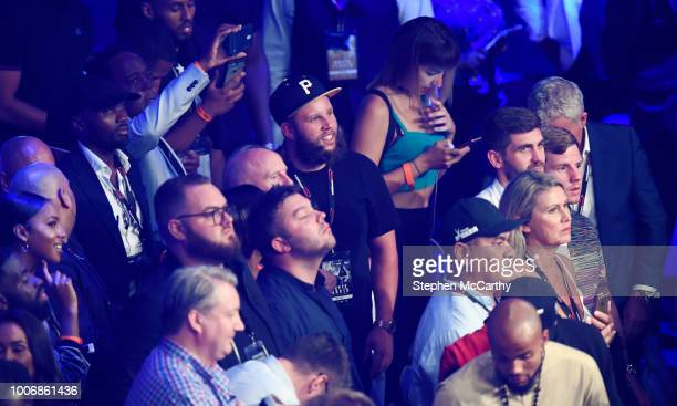 London United Kingdom 28 July 2018 Golfer Andrew 'Beef' Johnston in attendance at the Heavyweight boxing contest between Dillian Whyte and Joseph...