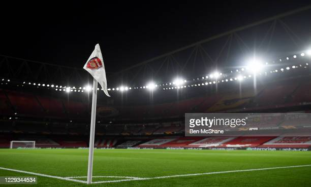 London United Kingdom 29 October 2020 A general view of the stadium prior to the UEFA Europa League Group B match between Arsenal and Dundalk at the...