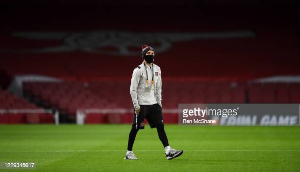 London United Kingdom 29 October 2020 Stefan Colovic of Dundalk walks the pitch prior to the UEFA Europa League Group B match between Arsenal and...