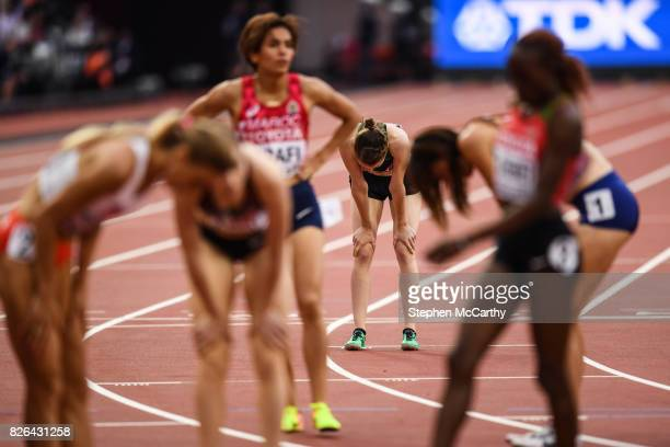 London United Kingdom 4 August 2017 Ciara Mageean of Ireland following round one of the Women's 1500m event during day one of the 16th IAAF World...