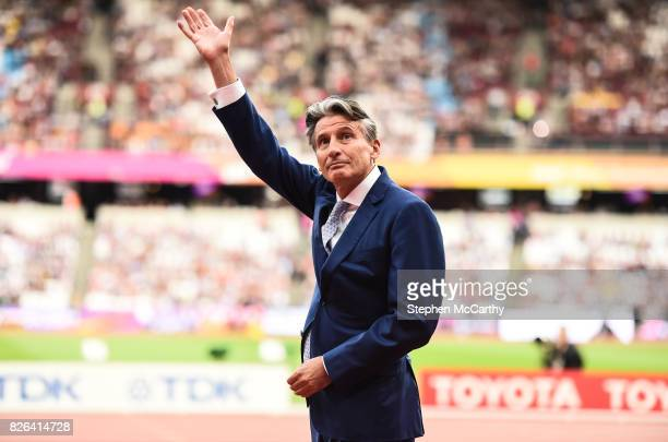 London United Kingdom 4 August 2017 IAAF president Sebastian Coe during day one of the 16th IAAF World Athletics Championships at the London Stadium...