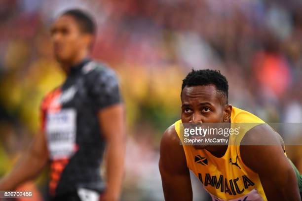 London , United Kingdom - 5 August 2017; Julian Forte of Jamaica competes in the semi-final of the Men's 100m event during day two of the 16th IAAF...