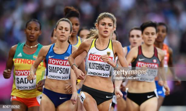London United Kingdom 5 August 2017 Konstanze Klosterhalfen of Germany competes in the semifinal of the Women's 1500m event during day two of the...