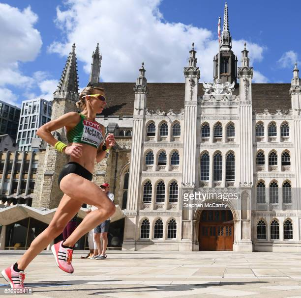 London United Kingdom 6 August 2017 Claire McCarthy competing in the Women's Marathon event during day three of the 16th IAAF World Athletics...