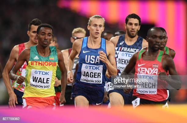 London , United Kingdom - 8 August 2017; Evan Jager of the USA during the final of the Men's 3000m Steeplechase event during day five of the 16th...