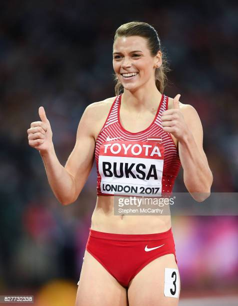 London United Kingdom 8 August 2017 Sindija Buksa of Latvia following her round one heat of the Women's 200m event during day five of the 16th IAAF...