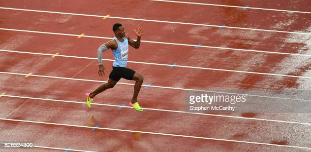 London United Kingdom 9 August 2017 Isaac Makwala of Botswana runs in an individual time trial after being reinstated into the heats of the Men's...