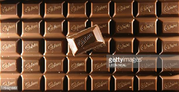 A bar of Cadbury's chocolate is pictured in London 21 February 2006 Britishbased chocolate maker Cadbury was fined one million pounds Monday 16 July...