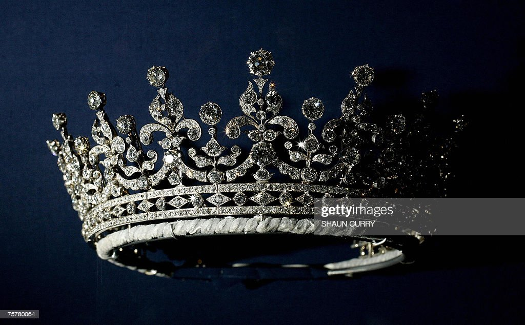 A diamonds and silver tiara given  to Br... : News Photo