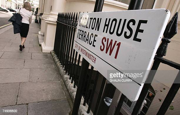 A general view of Carlton House Terrace where Egyptian billionaire Ashraf Marwan allegedly lived is pictured in central London 28 June 2007 Marwan...