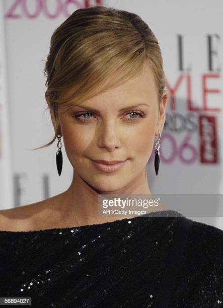 Actress Charlize Theron arrives at the Atlantis Gallery in Brick Lane to attend the Elle Style Awards 2006 in London Monday February 20 2006