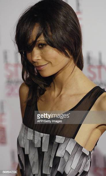 Actress Thandie Newton arrives at the Atlantis Gallery in Brick Lane to attend the Elle Style Awards 2006 in London Monday February 20 2006