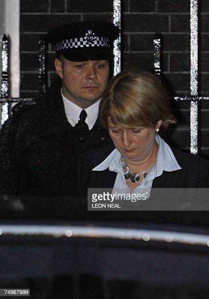 London, UNITED KINGDOM: Britain's Home Secretary Jacqui Smith leaves 10 Downing Street in London, 30 June 2007, following the second COBRA meeting of...