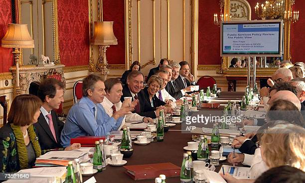 London, United Kingdom: Britain's Prime Minister Tony Blair speaks at Lancaster House in central London at a extended Cabinet meeting to consider...