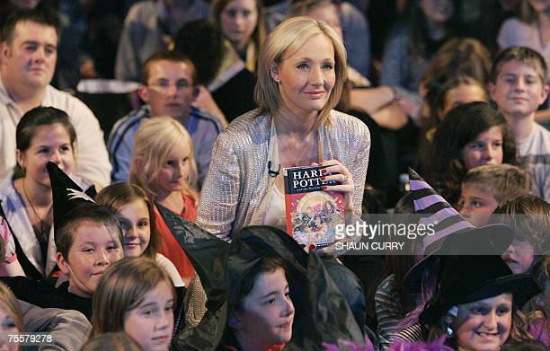 British author JK Rowling presents her novel Harry Potter and the Deathly Hallows which goes on sale at midnight 20 July 2007 at the National History...