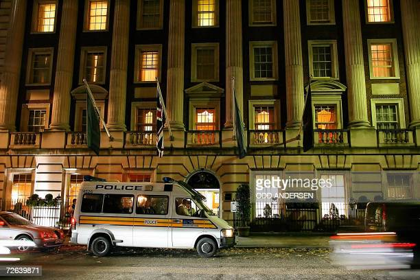 British Police guards the entrance to the Millennium hotel in Grosvenor Square in London 24 November 2006 Former spy Alexander Litvinenko met with a...