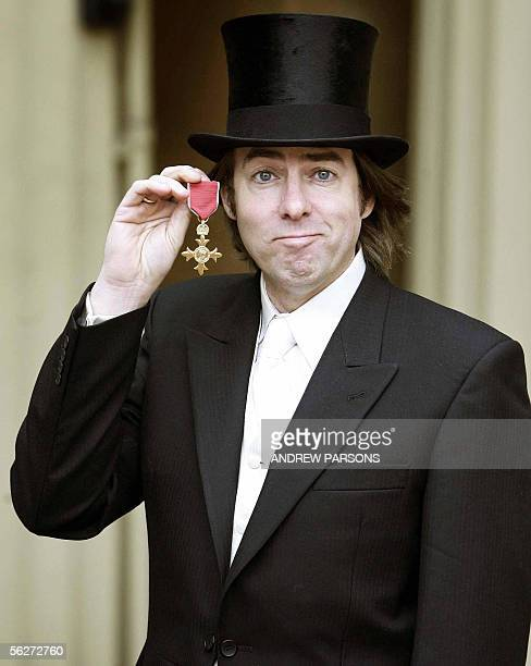 London, United Kingdom: British Television presenter Jonathan Ross poses for photographs after receiving his Order of the British Empire at...
