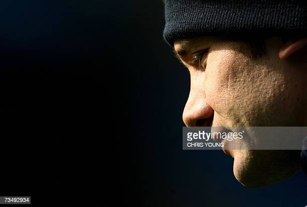 Chelsea's Ukrainian striker Andriy Shevchenko takes part in a training session at Stamford Bridge in London 05 March 2007 on the eve of their...