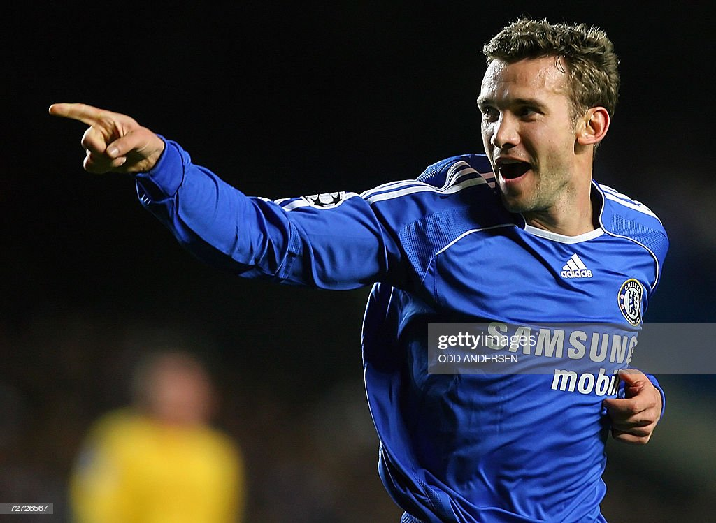 Chelsea's Ukrainian striker Andryi Shevc : News Photo