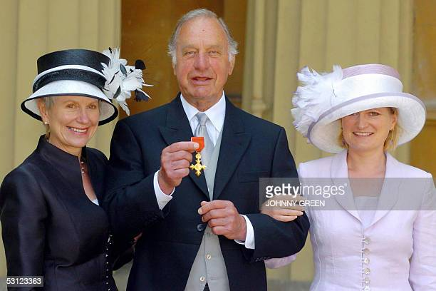CORRActor Geoffrey Palmer is joined by his wife Sally and daughter Harriet as he celebrates becoming an Officer of the Most Excellent Order of the...