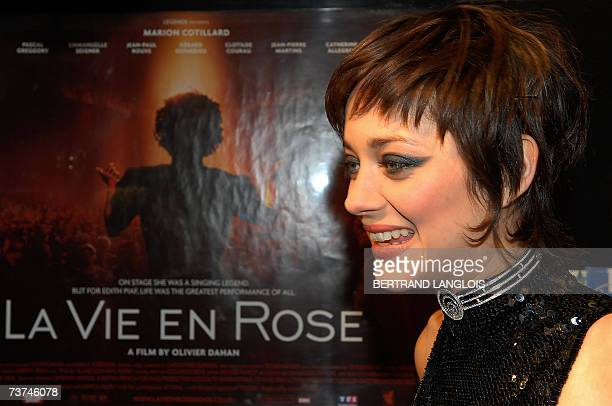 "London, UNITED KINGDOM: French actress Marion Cotillard speaks at the opening ceremony of the ""Rendez-vous with French cinema"" film festival in..."