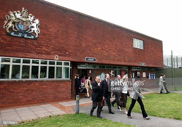 French Justice Minister Rachida Dati leaves the Feltham Young Offenders Institute in south west London 27 July 2007 following a visit to the youth...