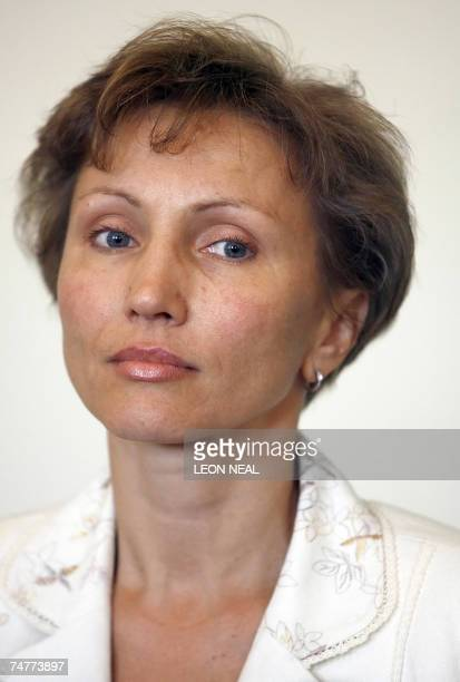 Marina Litvinenko the widow of former Russian agent Alexander Litvinenko attends a press conference to launch the book Death of a Dissident by Alex...