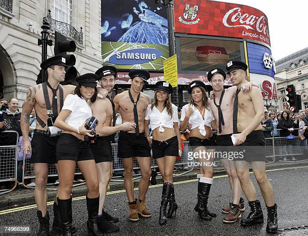 On the day after a carbomb attack in central London people take part in the Gay Pride in the British capital 30 June 2007 Londoners shrugged off the...
