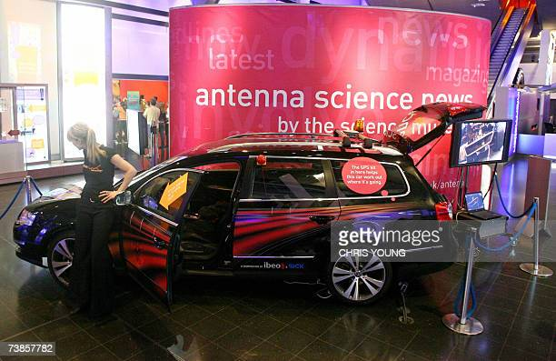 The DARPA Urban Challenge driverless car is pictured at the Science Museum in London 11 April 2007 The car driven by a hitech ghost of laser sensors...