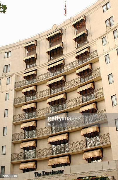 The facade of the Dorchester hotel where US singer Michael Jackson has taken the top floor suit in London 07 October 2005 Jackson has been recording...