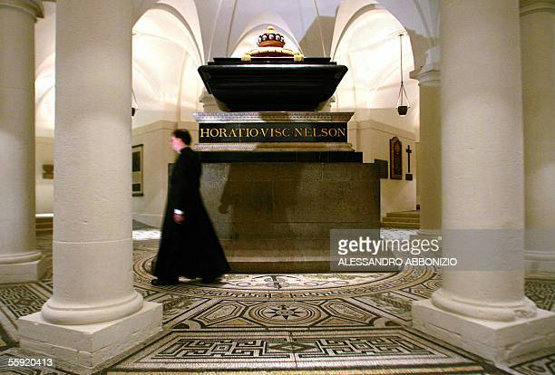 The recently restored Chamber and Tomb of Admiral Nelson is unveiled during a photocall in the Crypt of St Paul's Cathedral in London 14 October 2005...