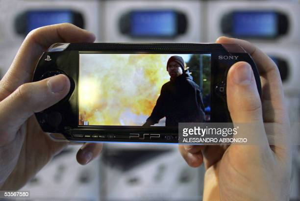 London, UNITED KINGDOM: The Sony PSP is taken out for a test at HMV stores in London's Oxford Street, 31 August 2005, before going on sale at...